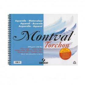 copy of Canson Montval grana torchon spiralato in testa, 270 g/qm, 32 x 41 cm - 12 fogli