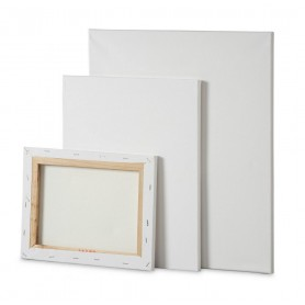Telaio Standard 30x40- ttch - cotone 100% - grana media - telaio in abete 17x45