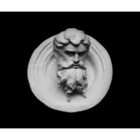 Medaglione con barbuto - Rilievo - 107g